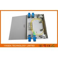 Wall Mount FTTH Fiber Optic Termination Box , Indoor Plastic ABS PC 2 Ports Fiber Optic Box