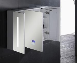 China Single Door Ss  Bathroom Vanity LED Mirror Cabinet / Illuminated Wall Cabinets on sale