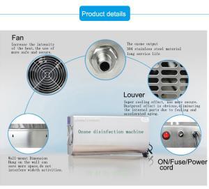 China generador montado en la pared muy eléctrico del ozono 3g para el retiro del purificador y del olor del aire on sale
