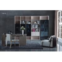 Cheap Apartment room Fashion Home office Furniture Study Computer Reading table and Glass door bookcase with wood Shelve