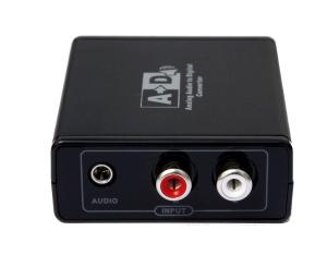 China LKV3089 Analog Audio to Digital Optic Coaxial RCA Toslink Signal Converter Adapter on sale