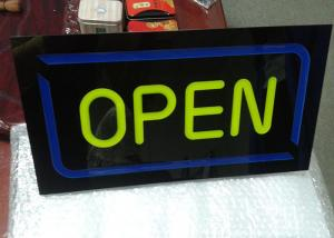 China Restaurant Outdoor Neon Open Sign / LED Signs Board Shop Name Board Design on sale