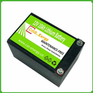 China Long time cycle high energy 12V10Ah LiFePo4 Battery For LED Light on sale