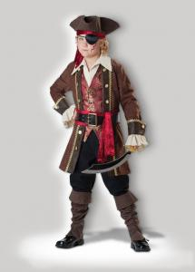 quality captain skullduggery 7043 funny halloween costumes brown childrens fancy dress for sale