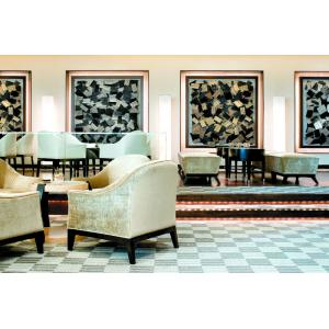 China Fabric Chair Hotel Lobby Furniture With Lobby Uphostery Cushion Sofa Set on sale