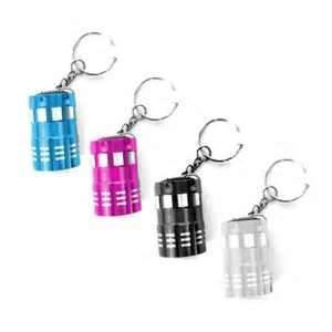 China Aluminium alloy 13000mcd 9 leds torch keychain with 2pcs CR2032 batteries for keyring gift on sale