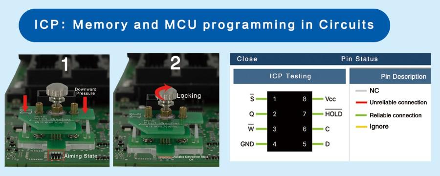 Memory and MCU programming In Circuits