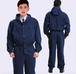 China Cotton Flame Retardant Insulated Coveralls , Acidproof Fire Protective Clothing on sale