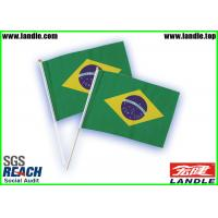 Green Polyester Printing World Country Flags OEM For Cheering
