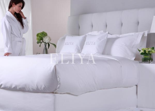 Super White Sateen Pure Cotton Ritz Carlton Hotel Bed Sheets Luxury Hotel  Linen Bedding Set Images