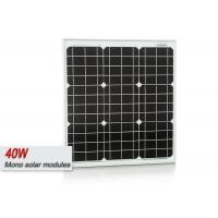 Waterproof 40 Watt Mono Cell PV Solar Panels With Aluminum Alloy Frame