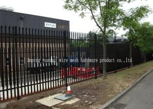 China Bolt Down Welded Steel Palisade Fencing Free Standing Edging With Base Plates on sale