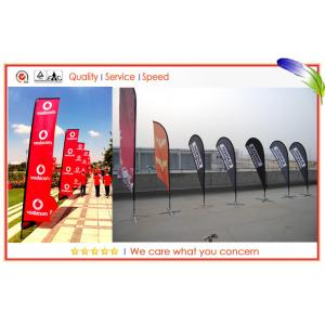 China Indoor And Outdoor Banner Printing Advertising Beach Flags , Teardrop Flying Banners on sale