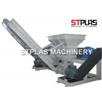 Twin Shaft Industrial Plastic Shredder Machine For Container Drum Barrel Crushing