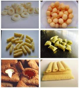 China Potato Snack Food Extruder Machine , Corn Snack Food Processing Machinery on sale
