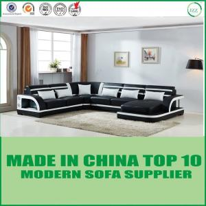 China Contemporary Italian Home Furniture Corner Modern Leather Sofa on sale