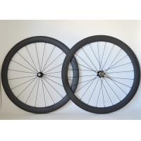 China T700 Road Bike Carbon Cycling Wheels 20 / 24 Spoke Holes And Basalt Brake Surface on sale