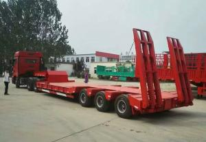 China Low Bed Heavy Duty Semi Trailers , 3 Axle Semi Trailer 50 To/ 60 To / 70 ton on sale