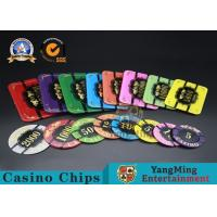 China Square Crystal Acrylic Poker Chips With Custom Logo / Super Touch Texture Poker Plaque on sale
