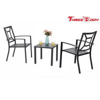 Patio Metal Arm Chairs Outdoor Garden Furniture Indoor Dining Chairs Set