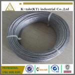 prix promotionnel approprié au câble métallique marin d'acier inoxydable du matériel 304