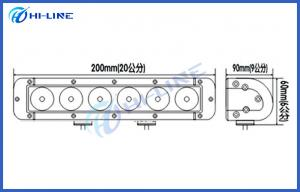China Waterproof IP67 40W Offroad LED Light Bars Anti-explosion Rigid LED Light Bars on sale