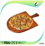bamboo round pizza cutting board for party wooden pizza board with high quality