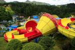Customized Fiberglass Classical Tantrum Valley Water Park Rides 1 Year Waranty