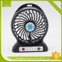 China BS-5600 Battery Operated Mini Fan USB Cord Charging DC Small Plastic LED Table Fan on sale