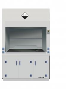 China White Color Non - Porous PP Fume Hood , Chemical Fume Hood With Exhuasted Fan on sale