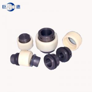 China Nylon curved tooth precision gear coupling with nylon sleeven   Nylon  inner gear type Coupling on sale