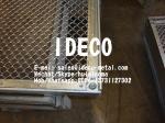 Aluminized/Aluminum Coated Mini Mesh Chain Link Fabric, High Security MiniMesh Fencing, Anti-Climb Chain Link Fence
