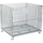 Powder Coated Wire Mesh Container  With Reinforced Under Structure