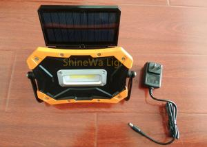 China Portable Solar Rechargeable Led Work Light 900 Lumen With Adjustable Panel on sale
