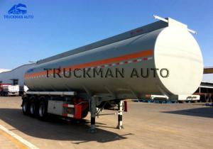 China 35 Cbm Oil Truck Tanker , Fuel Tanker Semi Trailer  For Diesel And Petrol on sale