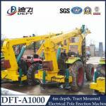 Máquina DFT-A1004 del conductor de pila de poste de teléfono