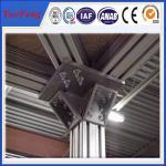 China roller material profiles aluminium extrusion,t slot extruded anodized aluminum profiles wholesale