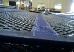 China Gravel Secondary Crusher Self Cleaning Screen Mesh Panel With 30mm PU Band on sale