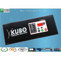 China 3M200 MP Membrane Switch Panel PET Ploydome Embossing Keys And LCD Window on sale