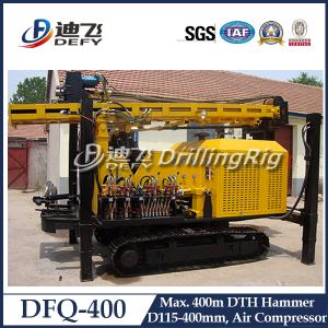 China DFQ-400 DTH impacter water well drilling machine for rock area, 400m DTH Drilling Rig for Sale on sale