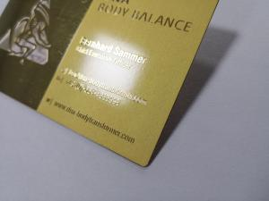 China Single Side Metal Membership Card Stainless Steel Plated Gold Cut Thru Logo Etch Text Silkscreen Print Color on sale