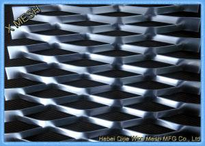 China Flattened Heavy Gauge Expanded Metal Mesh Fabric  Raised Surface 1.2x2.4 M Size on sale