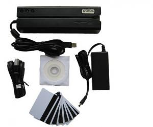 China MSR606 Magnetic Stripe Card Reader Writer Encoder MSR206 MSR605 with 20 Cards on sale