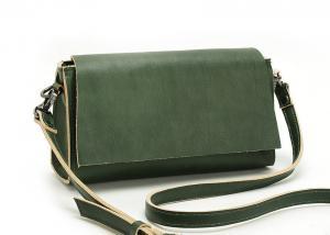 China LH-31B-1 Special Green Genuine Leather Bags Ladies Crossbody Handbag on sale