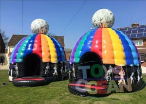 China Party Inflatable Bounce House Disco Dome Bouncy Castles With Light Music Box on sale
