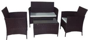 China 3pcs Patio Rattan Furniture Dining Balcony wicker Table Chairs set on sale