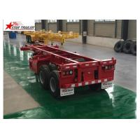 Extra Durability Flatbed Semi Trailer , 40ton 40 Ft Flatbed Trailer