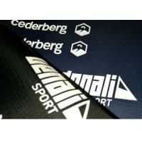 High Elasticity Brand Logo Reflective Heat Press Tagless Labels For Ski Suit