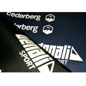 China Labels réfléchis de Tagless de presse de la chaleur d'élasticité de logo élevé de marque pour le costume de ski on sale