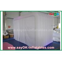 Giant White 4mL Oxford Cloth Inflatable Photo Booth Tent With LED Light